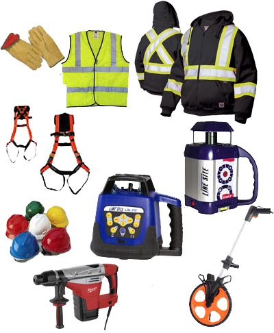 Construction & Safety Clothing and Accessories Barrie Rentall Equipment Rental Tool Rental and Terex Equipment Sales Toronto York Region